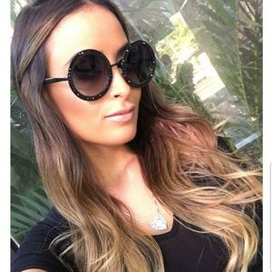 Accessories - Royal Round Sunglasses with Swarovski Crystals